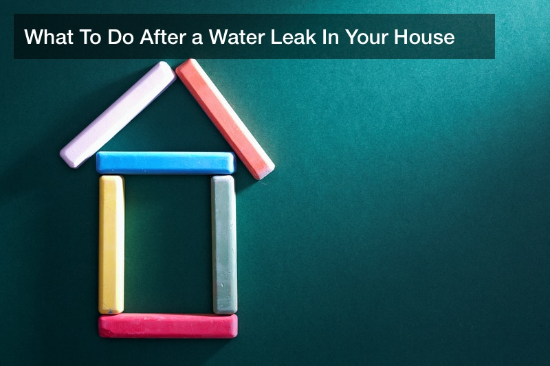What To Do After a Water Leak In Your House
