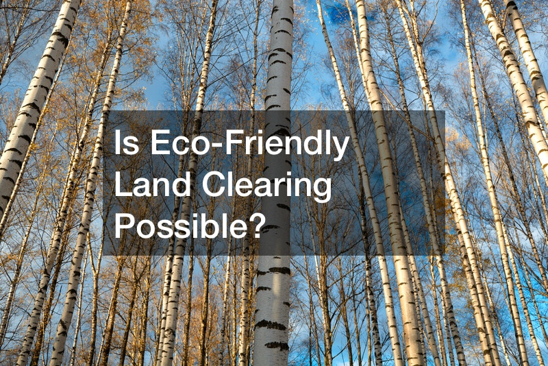 Is Eco-Friendly Land Clearing Possible?