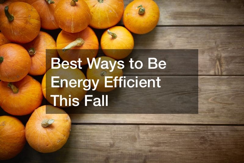 Best Ways to Be Energy Efficient This Fall